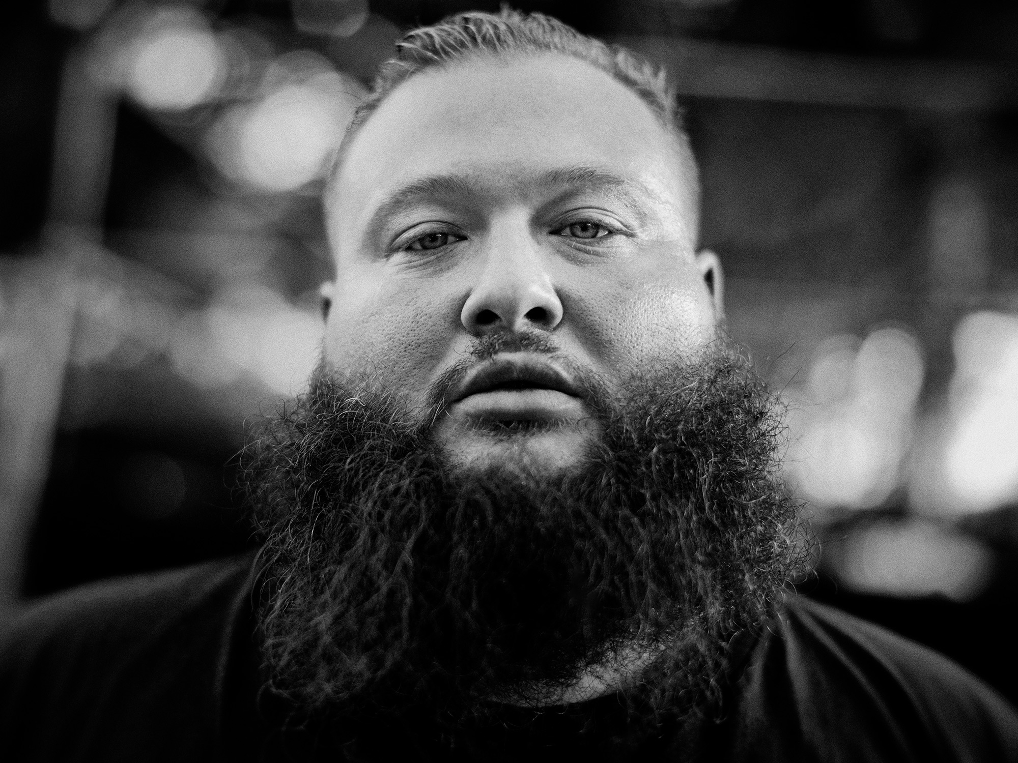 Action Bronson, hip hop artist, rapper and chef, backstage at Beerfest 2014 in Houston, Texas captured by Houston editorial and commercial photographer, Todd Spoth.