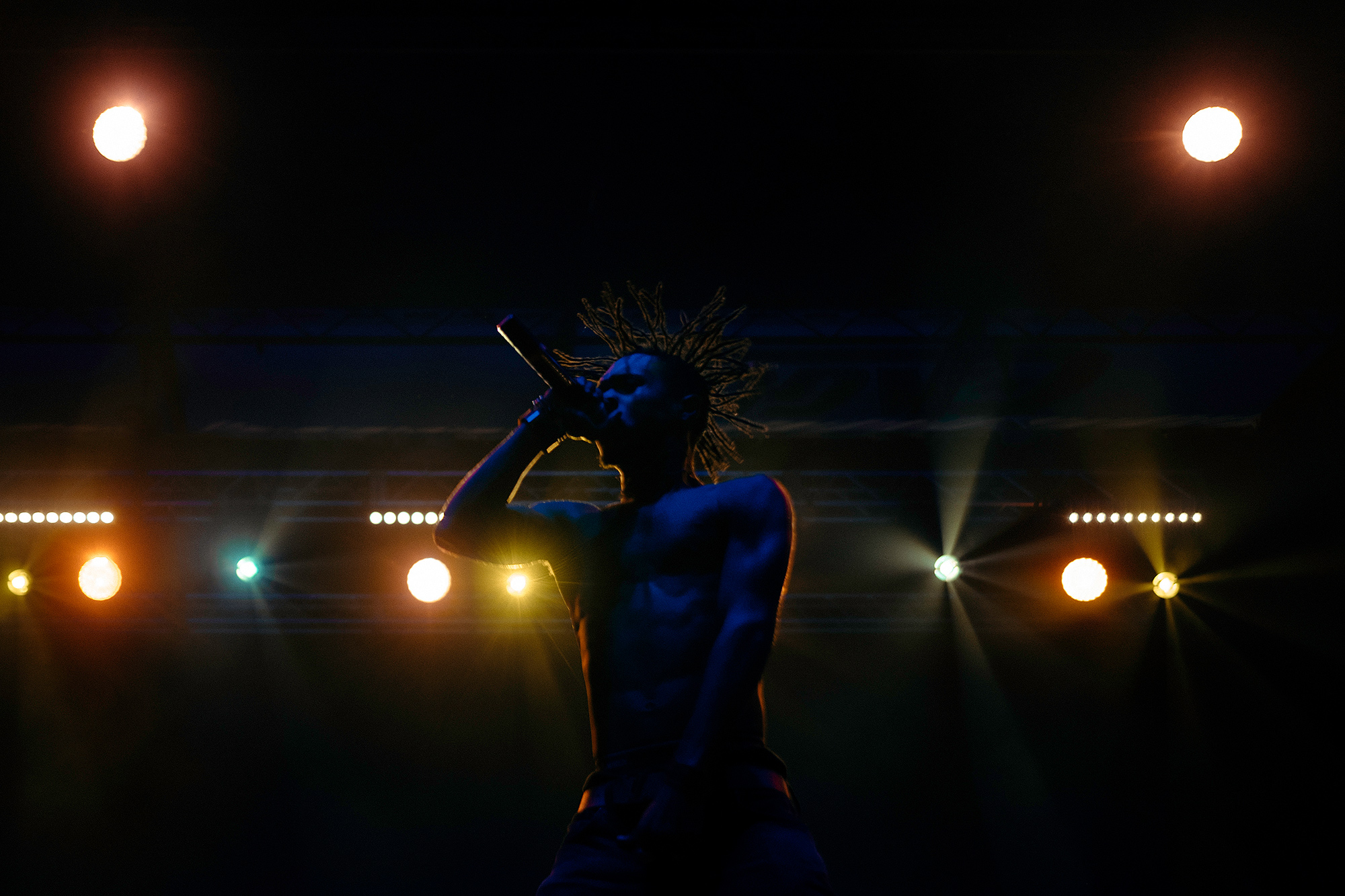 Swae Lee of hip hop duo, Rae Sremmurd, performs at Fun Fun Fun Festival in Austin, Texas,  photographed by Houston music photographer, Todd Spoth.