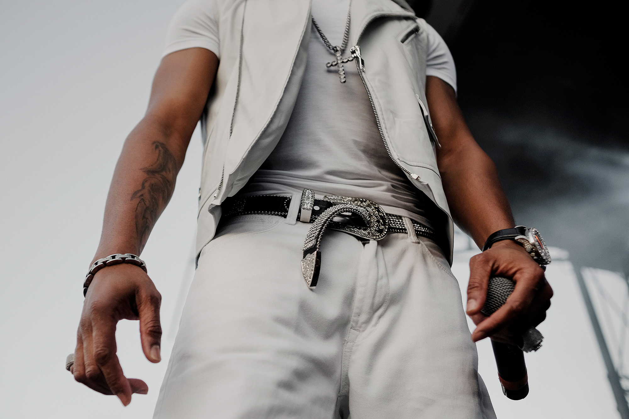 Ginuwine, r&b artist, performs at Fun Fun Fun Fest music festival in Austin, Texas, photographed by Todd Spoth.