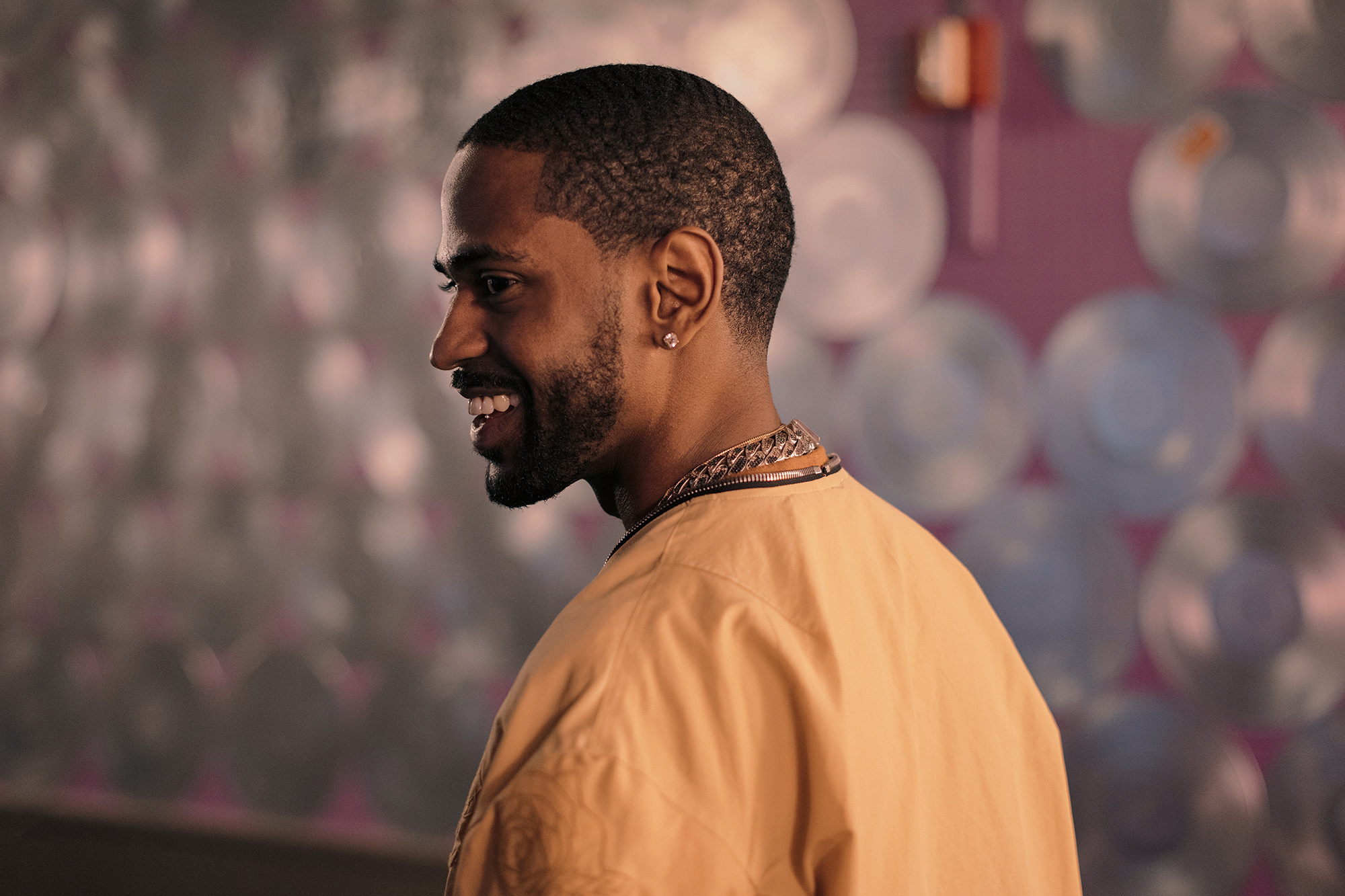 Big Sean, hip hop artist, is photographed backstage at Revention Center in Houston, Texas before the first show of his