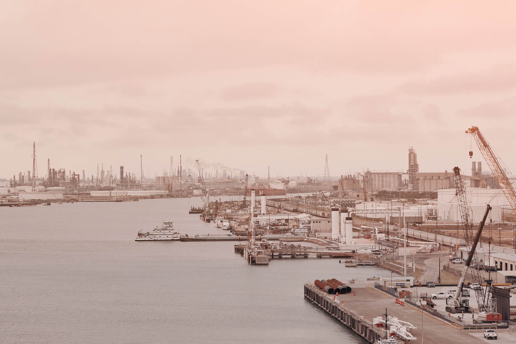 The port of Corpus Christi as seen from the Harbor Bridge, photographed for Texas Monthly magazine by editorial photographer, Todd Spoth.