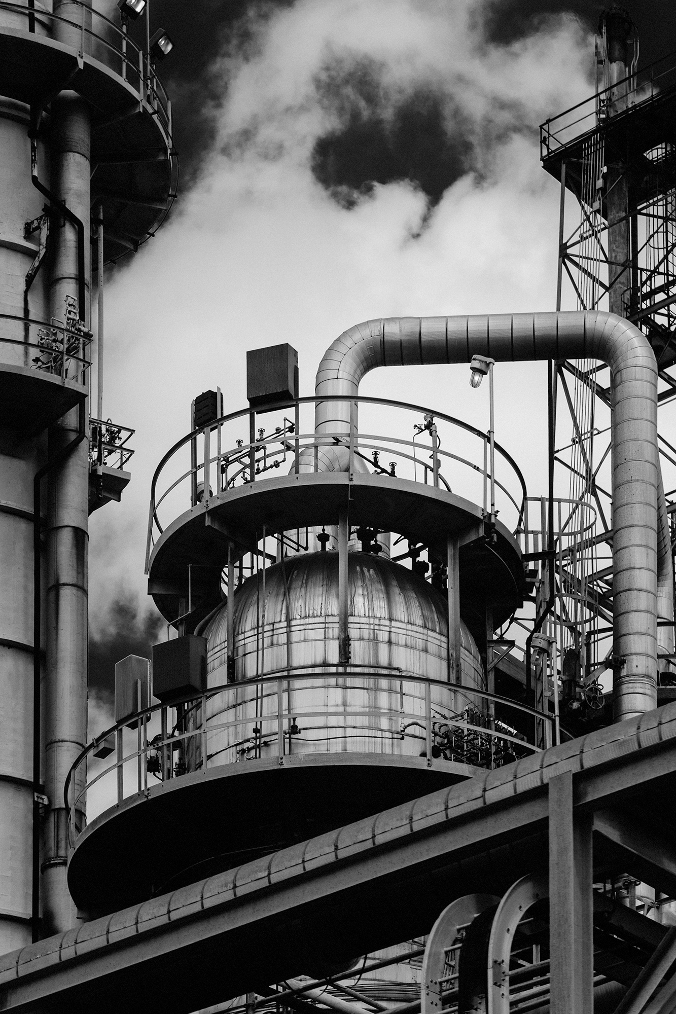 An oil & gas production facility photographed by Houston photographer, Todd Spoth.