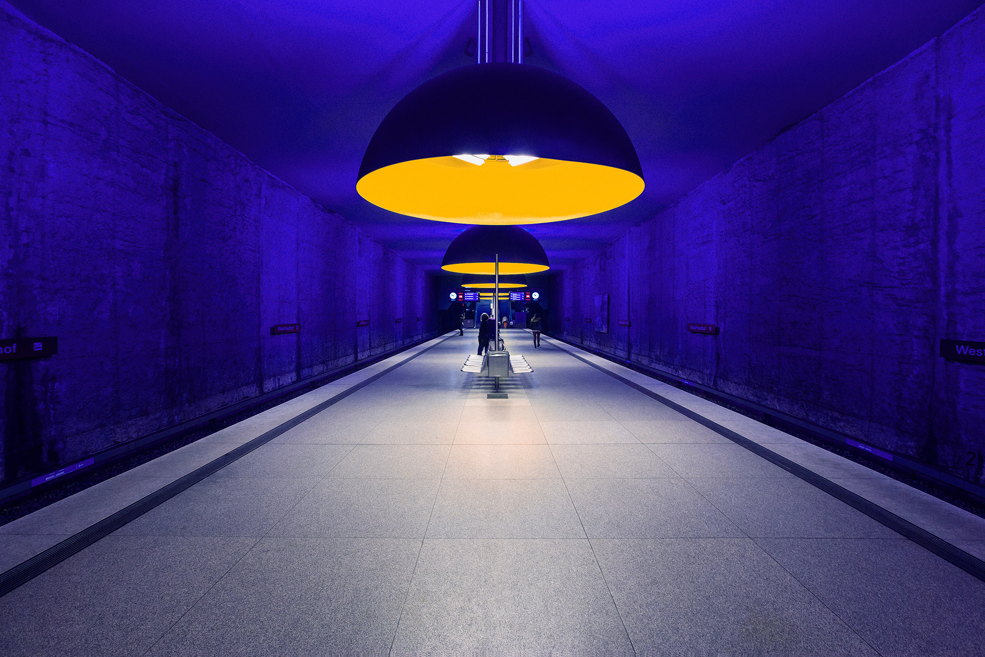 A moody subway station in Munich, Germany, photographed by Houston editorial and commercial photographer, Todd Spoth.
