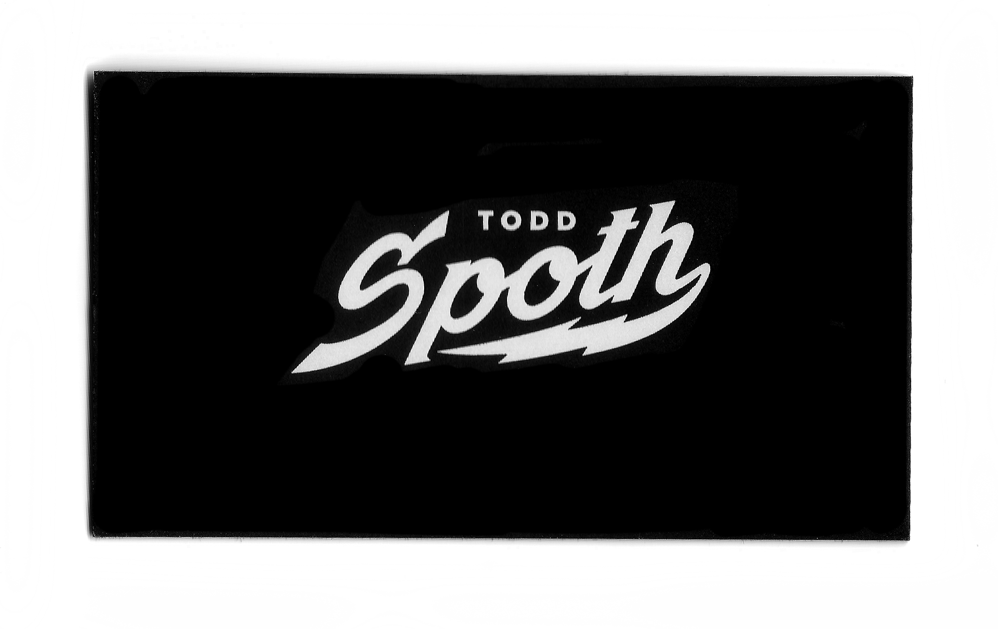 TODD SPOTH BUSINESS CARD (2014)
