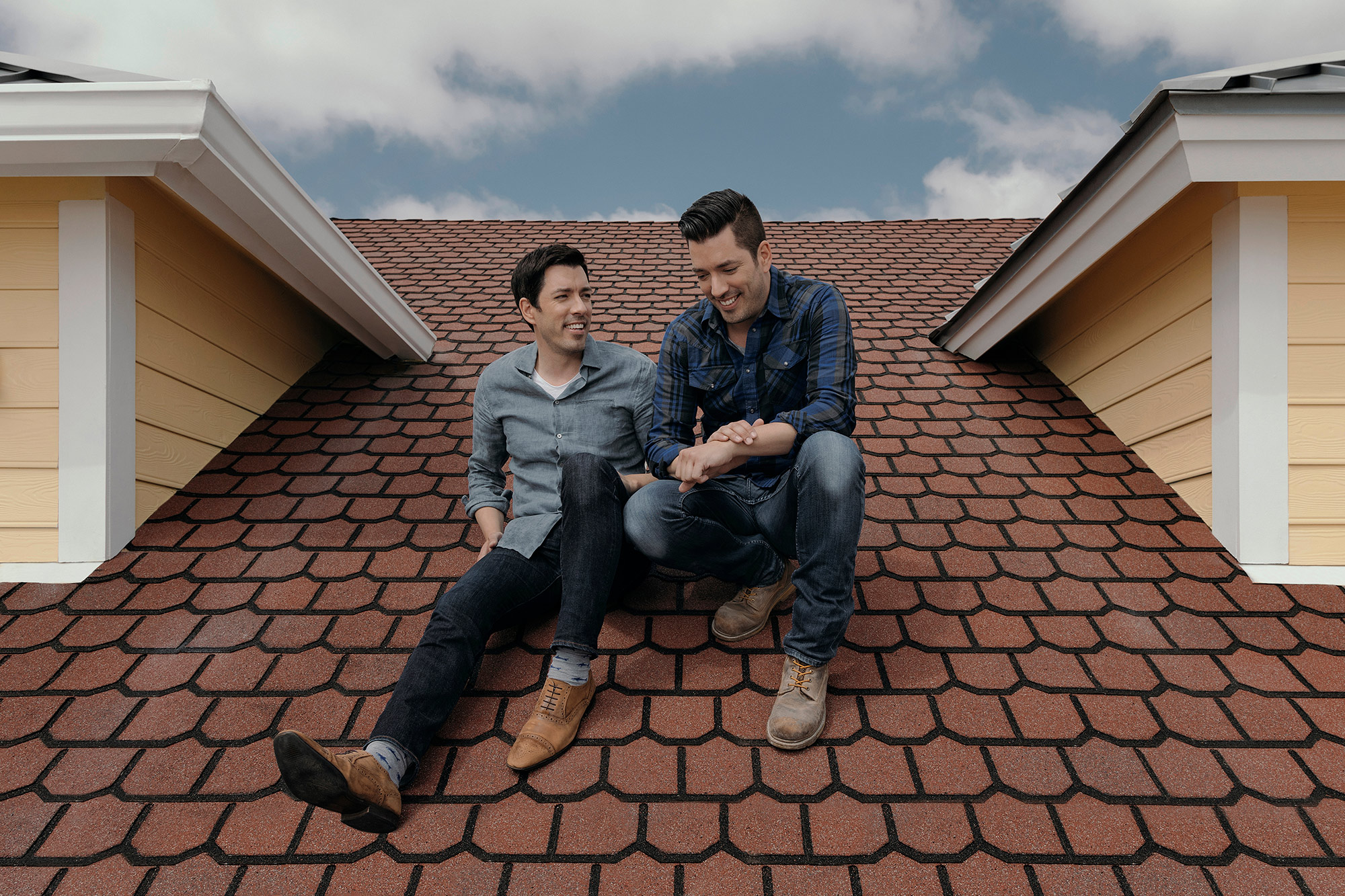 The Property Brothers,  Jonathan and Drew Scott, photographed in Galveston, Texas for The New York Times by commercial and editorial photographer, Todd Spoth, based out of Houston, Texas, USA.
