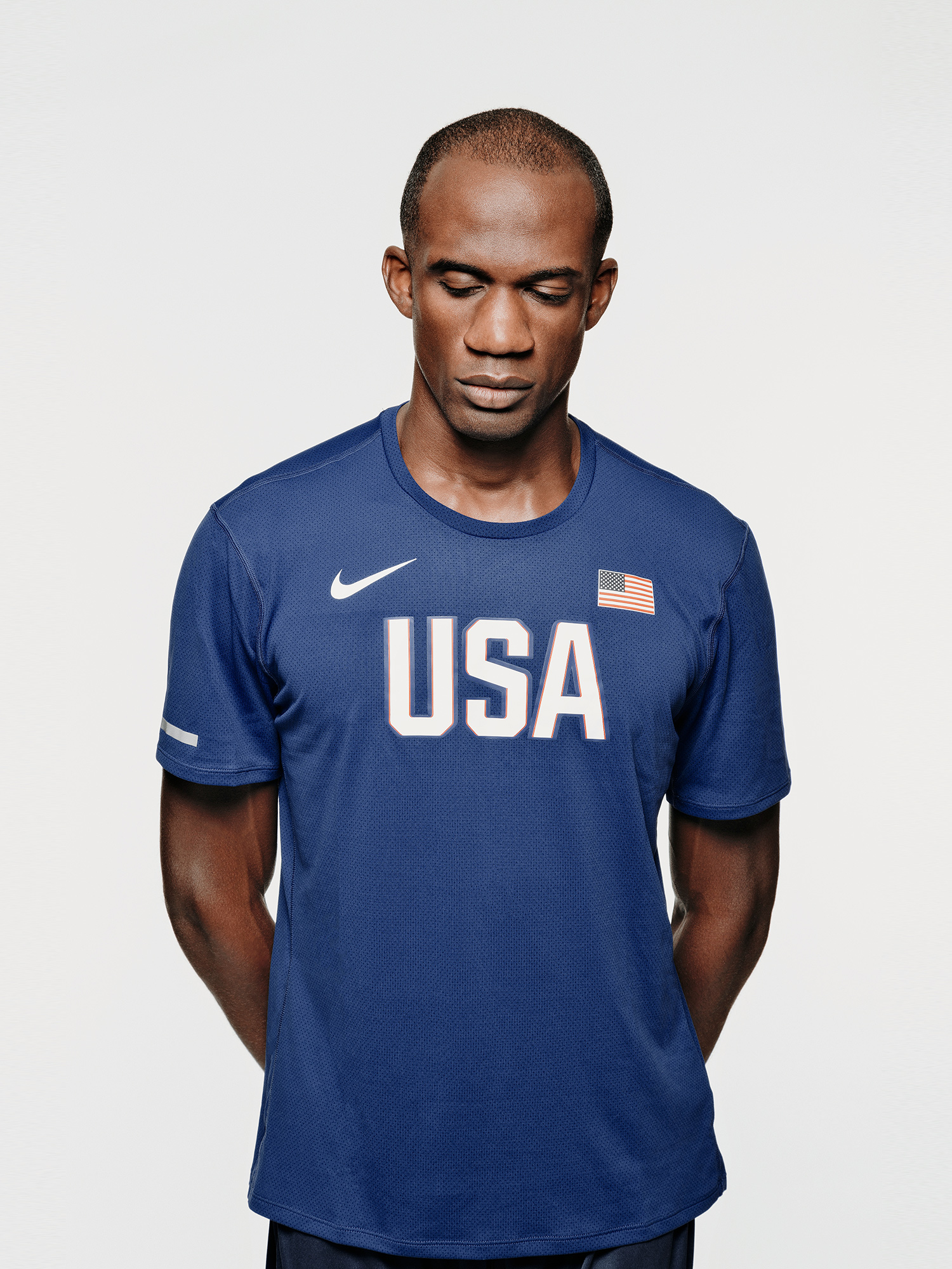 Lex Gillette, blind US Paralympic athlete, photographed for Nike, by Houston commercial photographer, Todd Spoth.