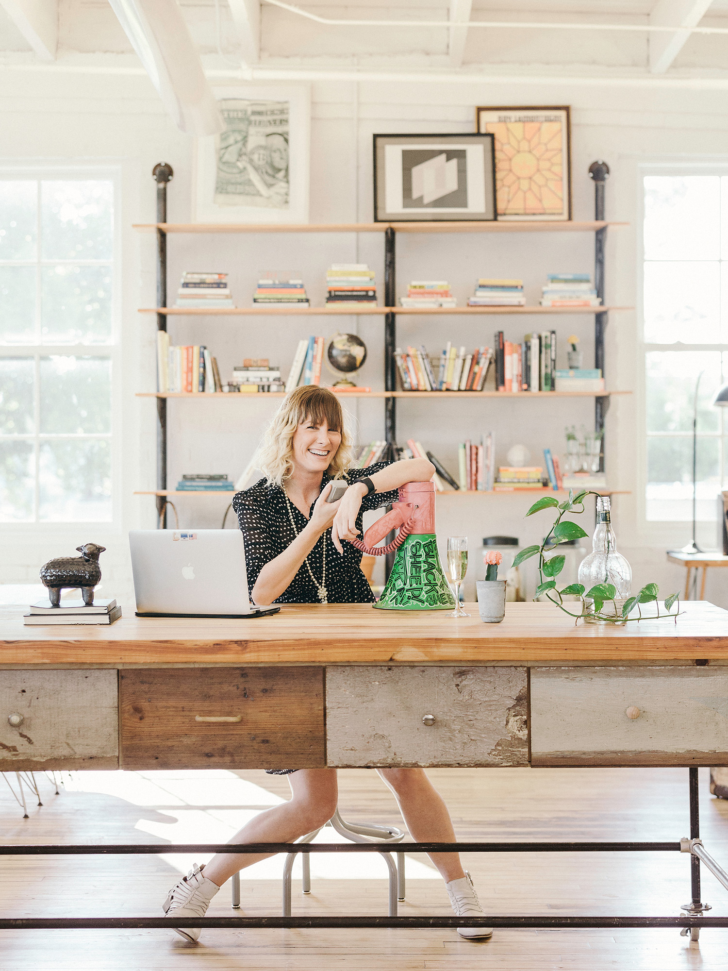 Aimee Woodall, activist and owner and Black Sheep Agency in Houston, Texas, photographed in the Black Sheep Agency offices in Houston, Texas,  by photographer, Todd Spoth.