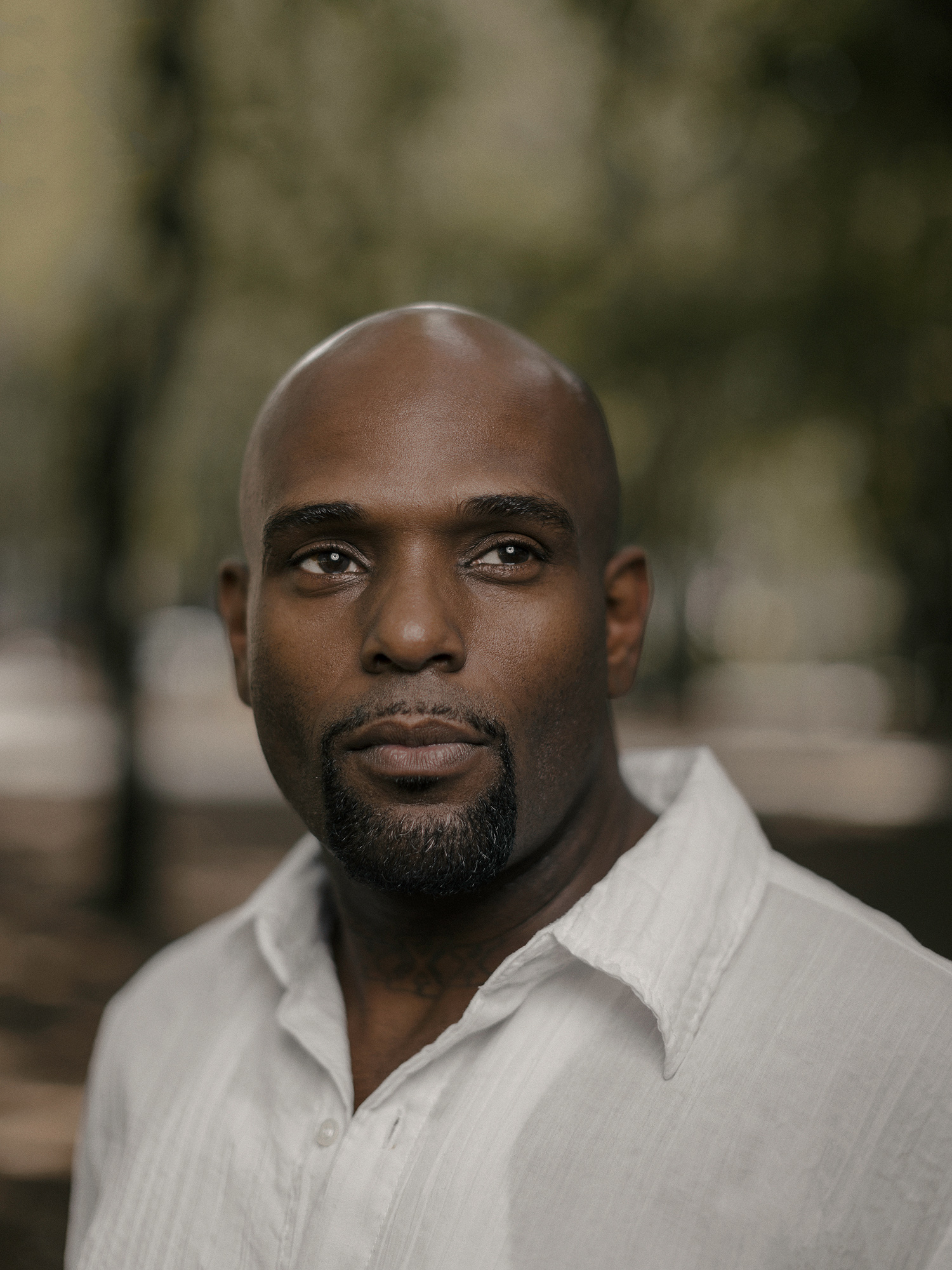 LaCurtis Jones, former NFL linebacker, photographed in The Galleria district of Houston, Texas by Houston editorial and commercial photographer, Todd Spoth.