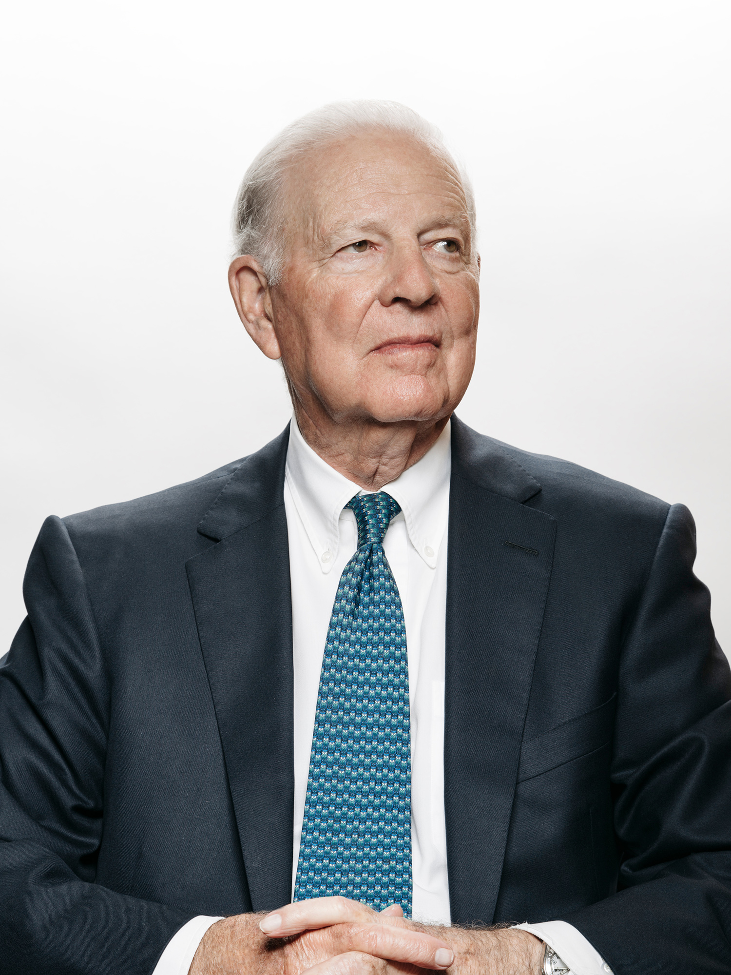 James Baker, former US Secretary of State, photographed in his Houston, Texas office by Houston editorial and commercial photographer, Todd Spoth.
