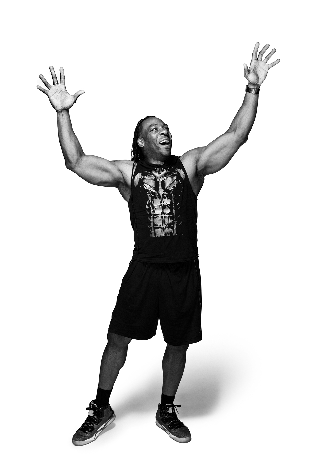 Booker T, 5-time WWE champion wrestler and owner of Reality of Wrestling, photographed at the Reality of Wrestling gym in Texas City, Texas, by Houston sports photographer, Todd Spoth.