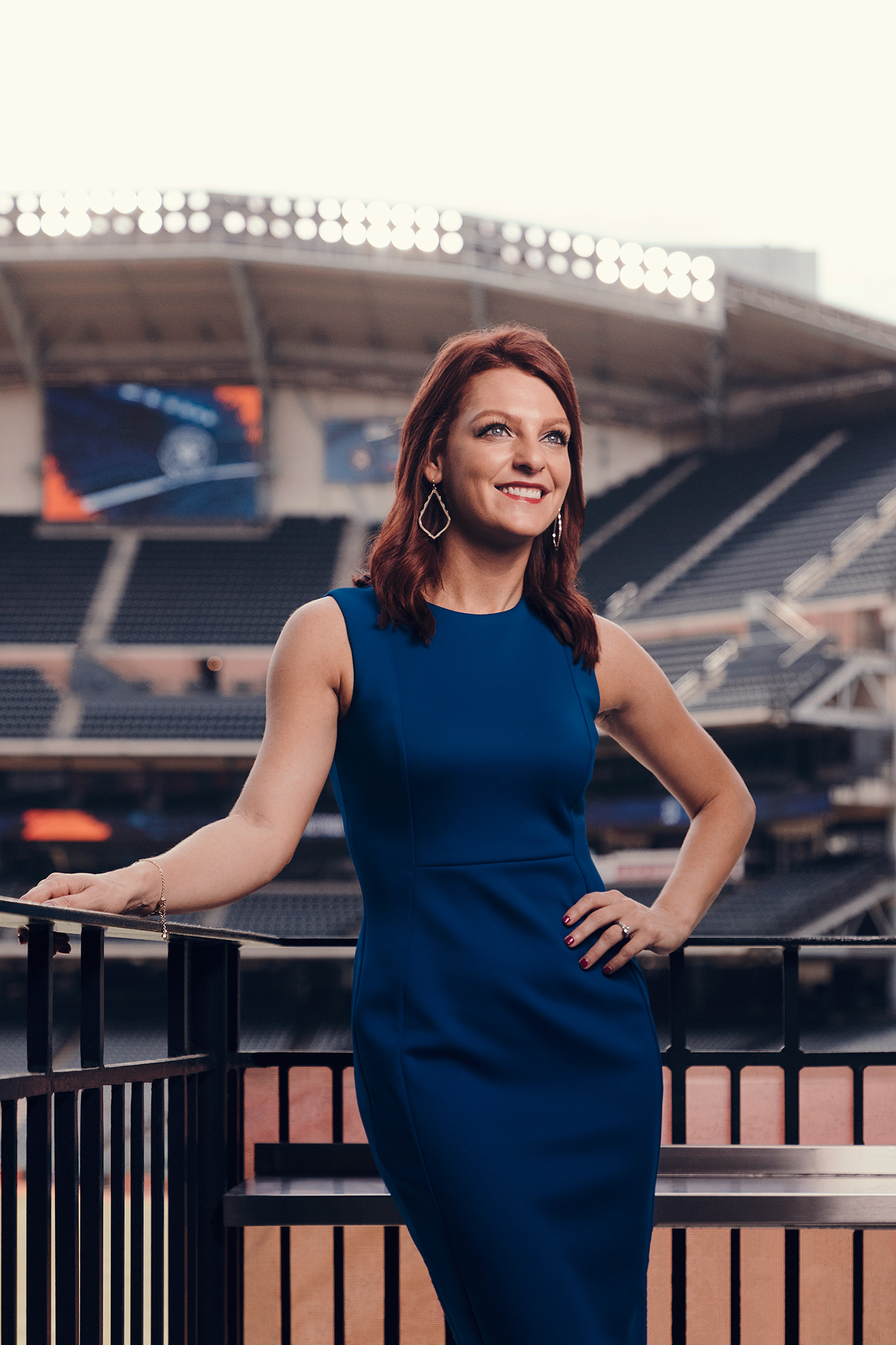 Julia Morales, Houston Astros on-field reporter, photographed on-location at Minute Maid Park in Houston, Texas by Houston sports photographer, Todd Spoth.