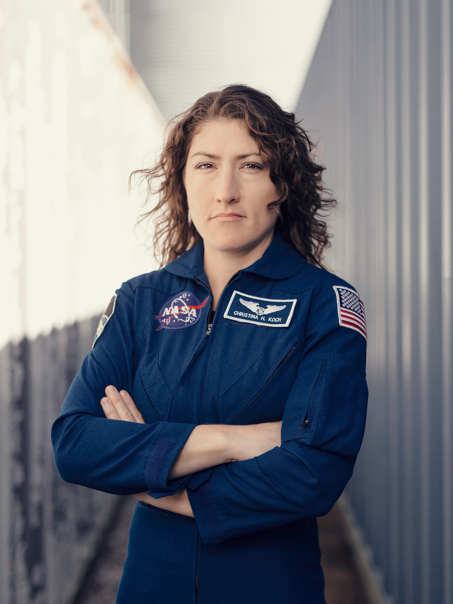 Christina Koch, NASA astronaut, photographed at Johnson Space Center in Houston, Texas by Houston photographer, Todd Spoth.