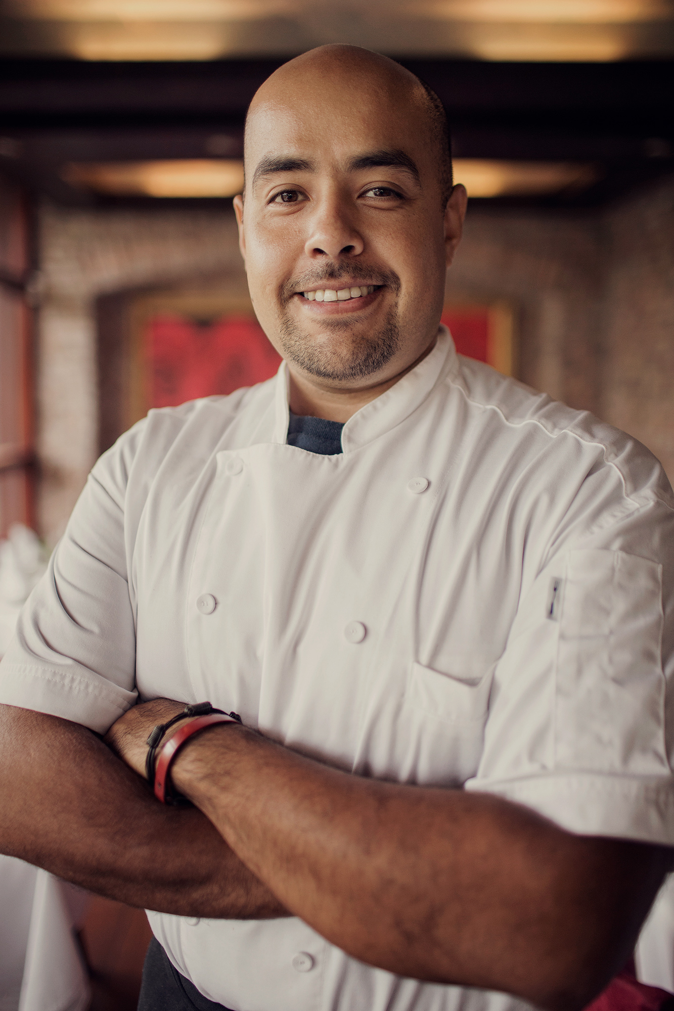 Chef Daniel Miranda is photographed at his restaurant in The Woodlands, Texas by photographer Todd Spoth.