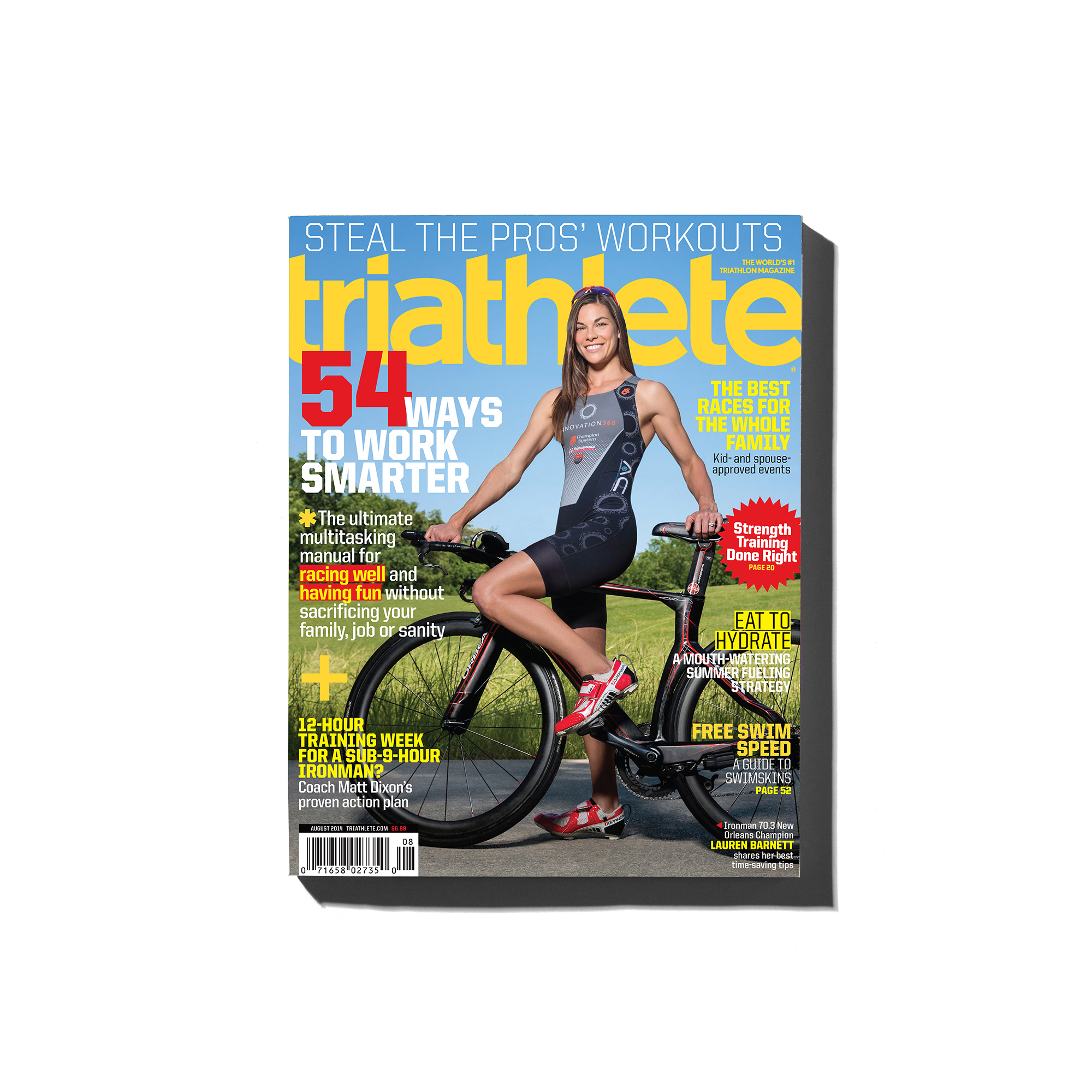 Lauren Barnett, professional triathlete, is photographed in The Woodlands, Texas for the cover of Triathlete magazine by sports photographer, Todd Spoth.