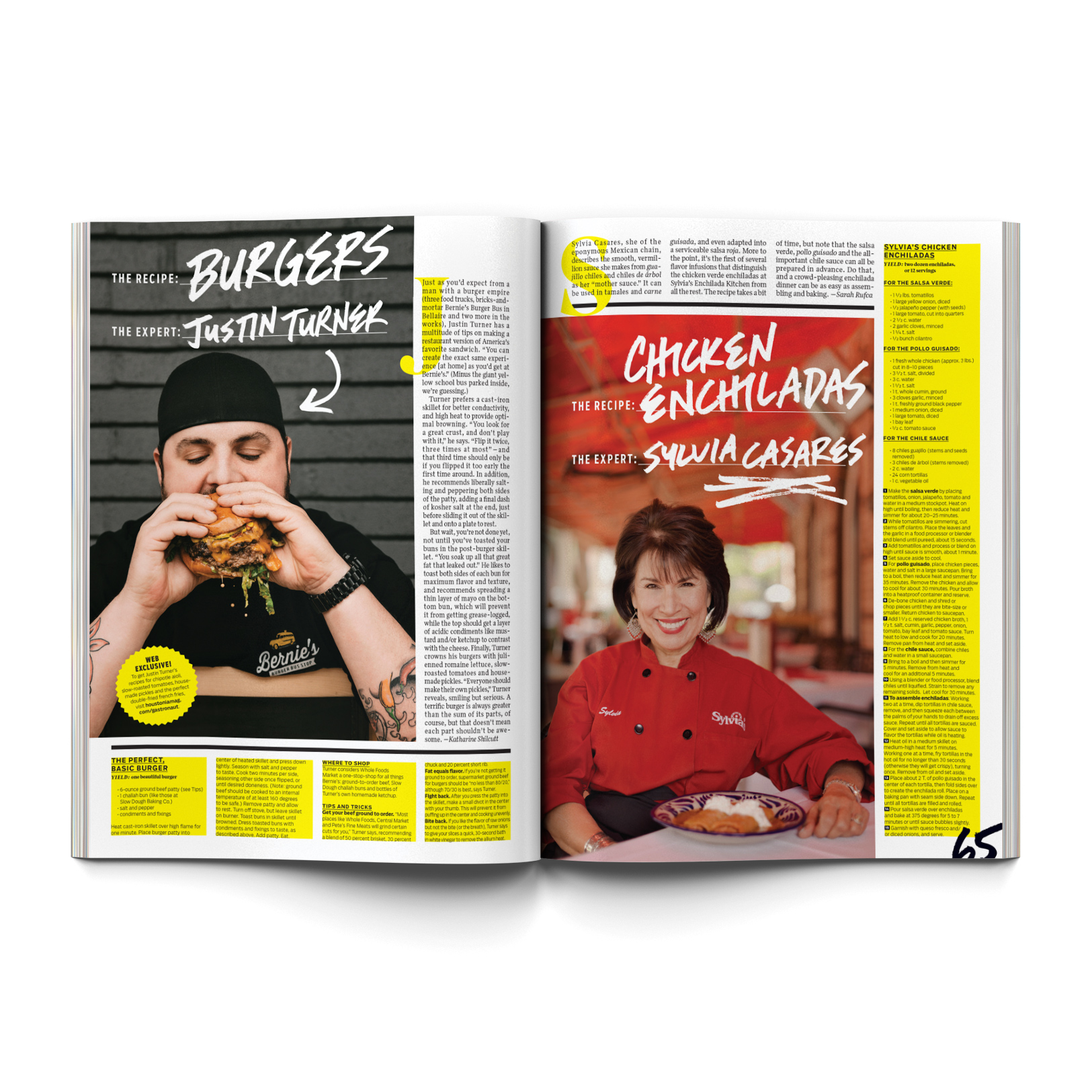 Chefs from Houston are featured in Houstonia Magazine with photographs by Todd Spoth.